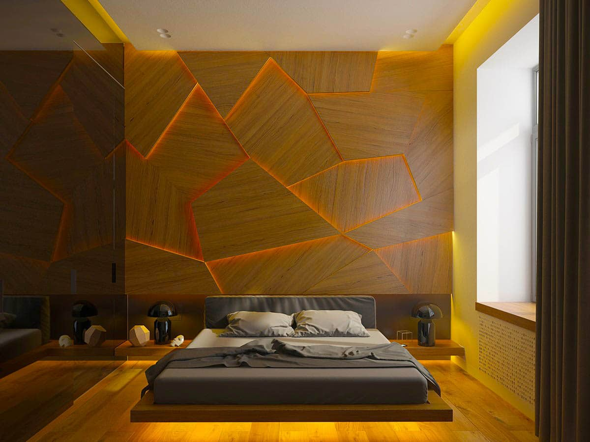 cracked-wooden-with-light-behind-wood-accent-wall